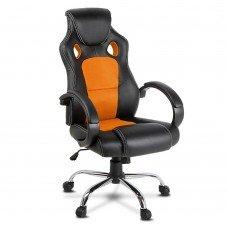 Racing Style Pu Leather Office Chair Orange