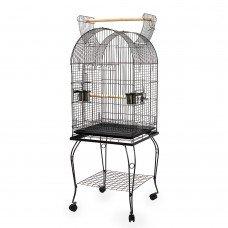 Parrot Pet Aviary Bird Cage W/ Open Roof 150cm Black