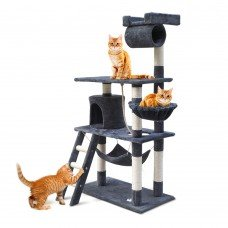 Cat Scratching Post  Tree House Condo 141cm Grey