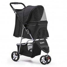 Pet 3 Wheel Pet Stroller - Black