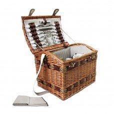 Alfresco 4 Person Picnic Basket Baskets Deluxe Outdoor Corporate Blanket Park
