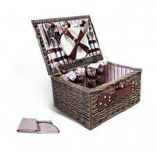 4 Person Picnic Basket Set W/ Blanket