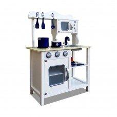 18 Piece Kitchen Play Set  White & Blue