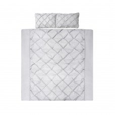 King 3-piece Quilt Set Grey