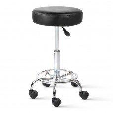 Round Pu Swivel Salon Stool Black