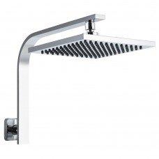 "Wels 8"" Rain Shower Head Set Gooseneck Square Faucet High Pressure Hand Held"