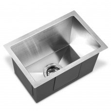 Stainless Steel Kitchen Laundry Sink With Strainer Waste 450 X 300mm
