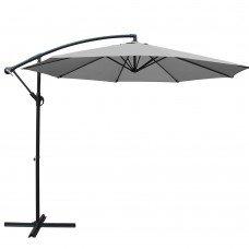 Instahut 3m Outdoor Furniture Garden Umbrella Grey