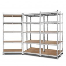 Giantz 5x0.9m Warehouse Shelving Racking Storage Garage Steel Metal Shelves Rack