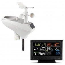 Devanti Wireless Wifi Professional Weather Station Solar Sensor Lcd Uv Light
