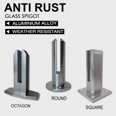 Glass Spigot Pool Balustrade Fencing Fittings – Round, Square or Octagon