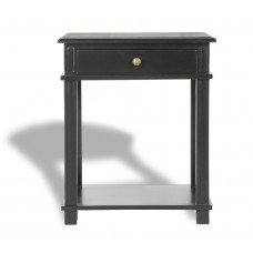 French Provincial Bedside Table - Villa Black front