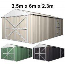 Double Barn Door Garage Shed 3.5m x 6m x 2.3m