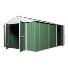 Garden Shed 3.6m x 4.3m x 2.3m Rivergum Green CLEARANCE