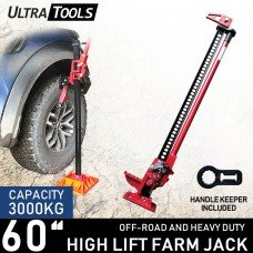 """High Lift 60"""" Farm Jack with handle keeper Ultra Tools Heavy Duty 4WD"""