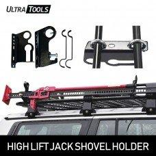 High Lift Farm Jack & Shovel Holder 4WD Offroad Roof Rack Gear