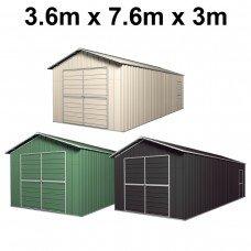 Double Barn Door Garage Shed 3.6m x 7.6m x 3m
