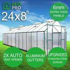 EcoPro 6mm 24 x 8ft Greenhouse