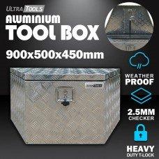 Aluminium Ute ToolBox1.5mm 900x500x450mm Drawbar Vehicle Storage