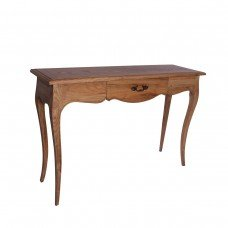 French Provincial Furniture Console Hall Table in Natural Oak