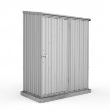 Absco 1.52mw X 0.78md X 1.95mh Space Saver Garden Shed Zincalume