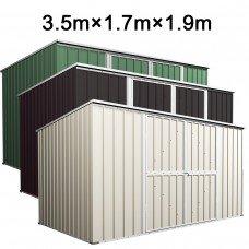 Garden Shed 3.5m x 1.7m x 1.9m Flat Roof