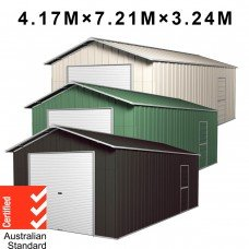 Garage Shed 7.21m x 4.17m x 3.24m with Roller Doors