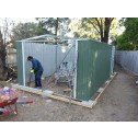 Double Barn Door Garage Shed 3.5m x 6m x 2.3m install