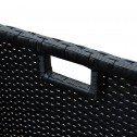 Havana 9 Piece 8 Seater Outdoor Dining Set Furniture Rattan Steel Frame Black
