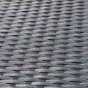 Phuket 5 Piece 4 Seater Outdoor Sofa Lounge Set Furniture Modular Rattan Steel Frame Black
