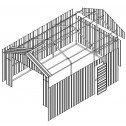 Double Barn Door Garage Shed 3.6m x 6m x 3m Drawings