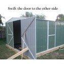 Double Barn Door Garage Shed 3.5m x 6m x 2.3m swift door