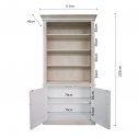 FRENCH-PROVINCIAL-HAMPTONS-BUFFET-BOOKCASE-CABINET-DIMENSIONS