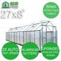 Genuine EcoPro 27 x 8ft Greenhouse - 6mm Panels