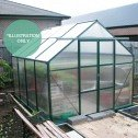 EcoPro Greenhouse 19x8 installed 45 degree