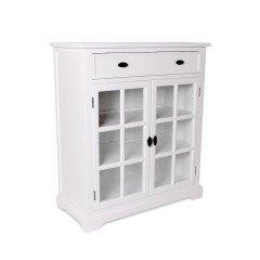 Hamptons Halifax Kitchen 1 Drawer Buffet Cabinet with Glass Door Sideboard