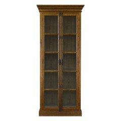 French Provincial Casement Double Door Glass Display Cabinet