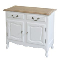 French Provincial Furniture Classic Small Vintage Buffet Sideboard Cabinet