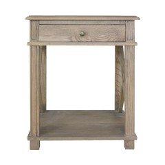 Hamptons Halifax One Drawer Bedside Lamp Table Nightstand - Natural Oak