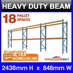 Pallet Racking 3 Bay System 2438mm High 18 Pallet Spaces