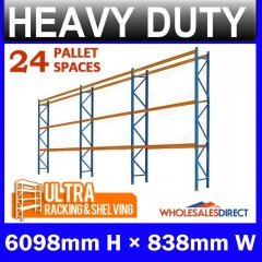 Pallet Racking 3 Bay System 6098mm High 24 Pallet Spaces