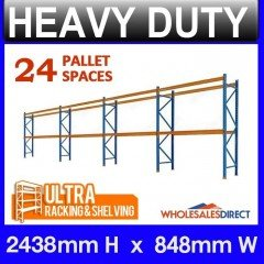 Pallet Racking 4 Bay System 2438mm High 24 Pallet Spaces