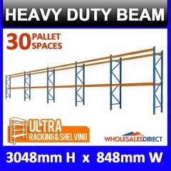 Pallet Racking 3 Bay System 3048mm High 30 Pallet Spaces