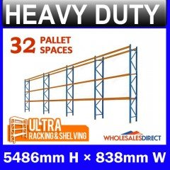Pallet Racking 4 Bay System 5486mm High 32 Pallet Spaces