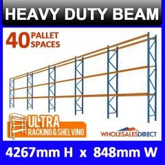 Pallet Racking 5 Bay System 4267mm High 40 Pallet Spaces
