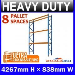 Pallet Racking System 4267mm High 8 Pallet Spaces