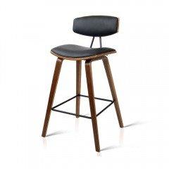 Set Of 2 Wooden Bar Stool - Black