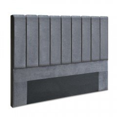 King Size Fabric Bed Headboard - Charcoal
