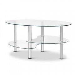Artiss 3 Tier Coffee Table - Glass