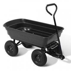 75l Garden Dump Cart - Black